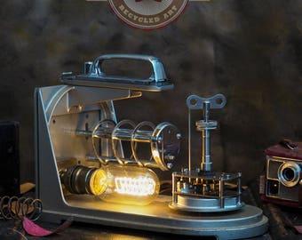 Vintage - OOAK - recycled hydrometer lamp.