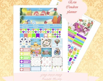 Printable Erin Condren Horizontal June planner Monthly Instant Download Monthly With Cut Files ECLP June
