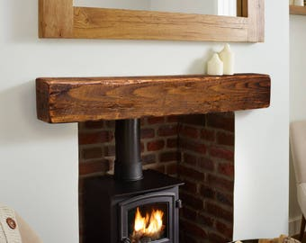 Mantel - Fireplace Mantel 6x6 - Mantle - Rustic Mantle - Floating Mantel - Barn Wood Mantel - Barn Beam - Custom Lengths