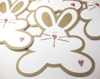 Bunny Tags, Easter Basket Tags, Bunny Gift Tags, Easter Bunny Tags, Handmade Embellishments, Bunny Shower Decorations, Party Favors