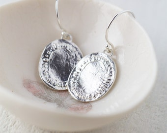 Silver Earrings Handmade, Gift for Women, Sterling Silver Earrings, Jewelry Gift, Wife Gift for Her, Burnish