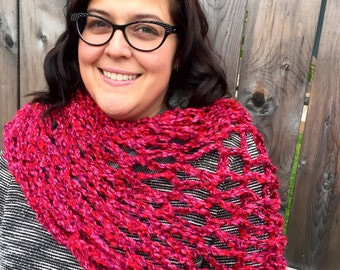 Red and Pink Shawl/Scarf
