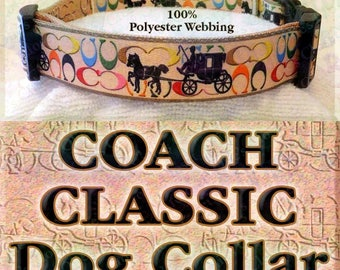 Classic Coach Designer Polyester Webbing Novelty Dog Collar