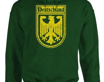 GERMANY GERMAN SOCCER flag crest Hoodie hooded sweatshirt sweat shirt comfortable