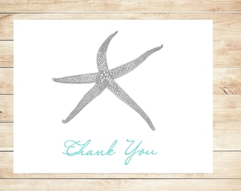 Starfish Thank You Cards