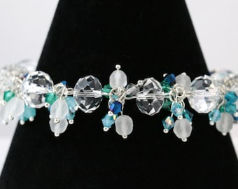 Sea Breeze Crystal Beaded Bracelet
