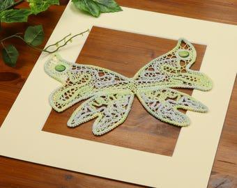 Butterfly wall art, Romanian Lace, Pastel butterfly home decor, Macrame decor, Lace wall art, Butterfly lovers gift, OOAK, Rustic home decor