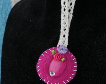 Little Miss Blush - iFelt Vaginas Goddess Small Felt Ornament Romance Series