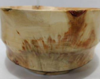 Hand turned wood bowl made from flaming Box Elder