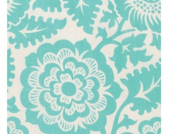 Clearance Joel Dewberry Blockprint Blossom in Aqua By The Yard Modernist Collection