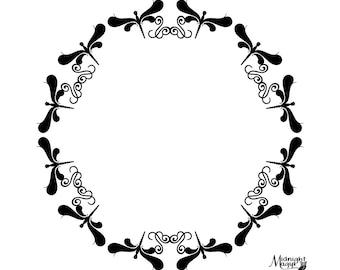 Dragonfly Monogram Frame