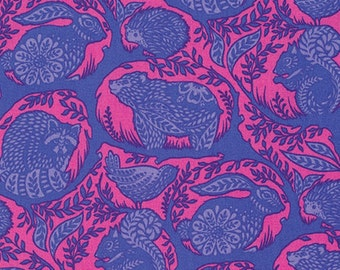 Grandstand in blue raspberry from the Slow and Steady fabric collection by Tula Pink for Free Spirit fabrics