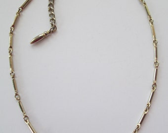 Vintage gold tone chain necklace 16 inches long with hook closure no markings.