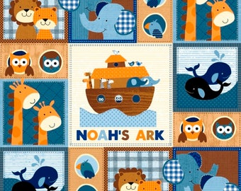 Noah's Ark Patch fabric from the Noah's Story Collection by Swizzle Stick Studio for Studio E Fabric
