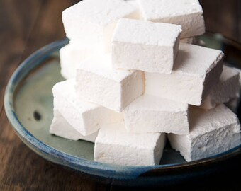 S'mores Shaped Homemade Marshmallow Vanilla