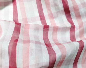 BIG SALE Pink Silk cotton mixed organza style fashion fabric  55 inch summer beachwear curtain fabric