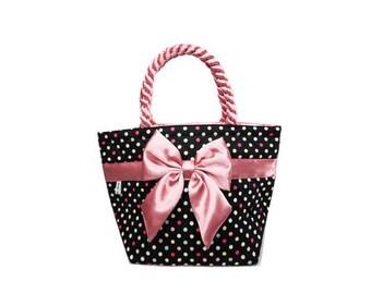 Classic Polka Dot Bow Bag