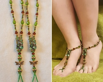 Beaded Barefoot Sandals (Size 7.5-9)