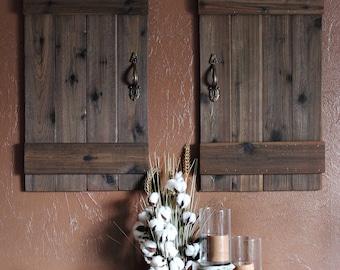 Rustic Barn Doors Mini Barn Doors Shutter Wall Decor Rustic Wall Decor & Mini wooden door | Etsy