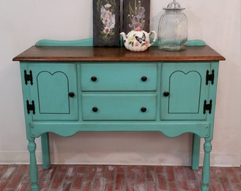 Buffet Table, Painted Furniture, Farmhouse Table, Rustic Furniture, Shabby  Chic, Antique