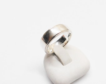 Simple, classic ring Silver 925 with straight edge 15 mm, size 4.1 SR488