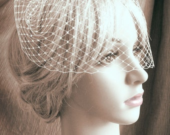 """9"""" birdcage veil - one comb - MADE TO ORDER"""