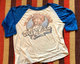 1980 Vintage Willie Nelson On the Road Again Tour Raglan Shirt