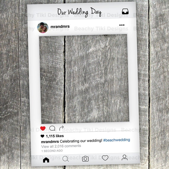 Instagram New Look Frame Cut Out with Instagram Prop Printable
