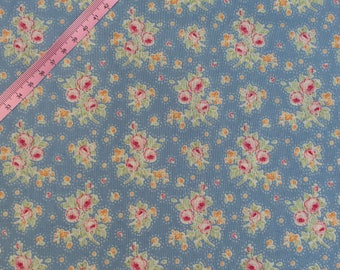 Tilda First Kiss Blue Fabric / Circus Collection - Large Fat Quarter