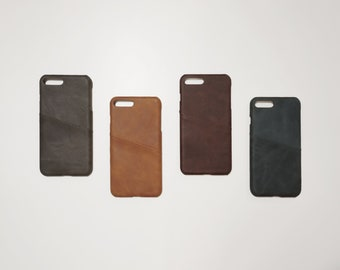 iPhone 7+ / 8+ Plus Leather Phone Case Card Holder Wallet Slim