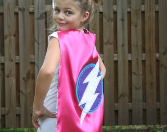 Girls Superhero Cape-Perfect Christmas Gift- PERSONALIZE/CUSTOMIZE- Superhero Birthday Party-Superhero Costume