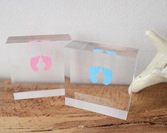 Newborn keepsake acrylic block