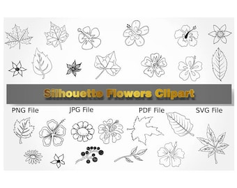 Doodles Flower Clipart, Doodles Flower, Hand Drawn Flower, Digital Flower, Black Flower, Flower SVG, Vector, Doodle Flower, Doodle Flowers