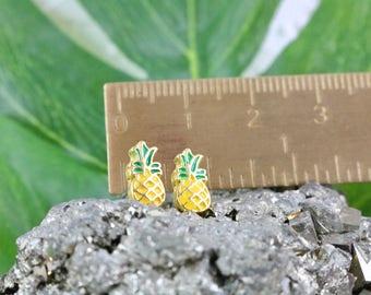 Tiny Pineapple Earrings - Pineapple Earrings - Pineapples - Tiny Stud Earrings - Minimalist Jewelry - Cute Studs - Tiny Earrings - Gift Idea