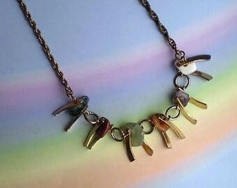 Vintage 60s Choker Necklace with Quartz Park Lane
