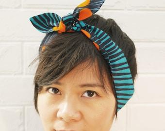 Headband Turquoise Blue Wax