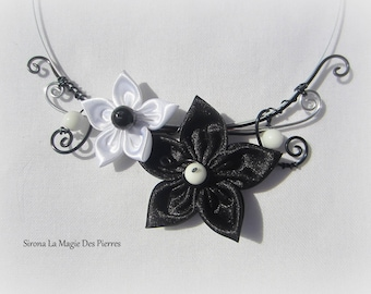 Ceremony Necklace black white