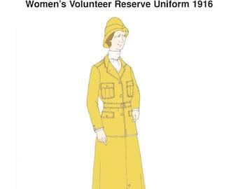 RH1055 — Ladies' Great War British Volunteer Reserve Uniform