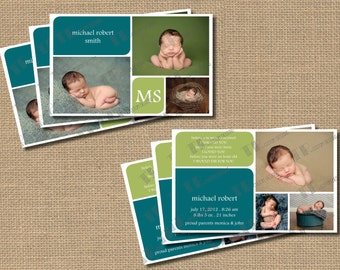 Modern and Simple Birth Announcement