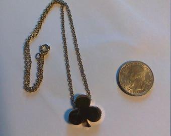 Vintage Gold Plated 3 Leaf Clover Necklace