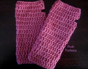 Crochet PATTERN - Crochet Mittens Pattern - Crochet Fingerless Mittens Pattern - Wrist Warmers - Instant Download PDF 180 - Adult Teen