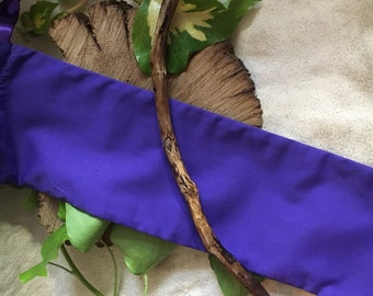Ivy~Wand~Purple~Wandbag~Crystal Tip~Weave~Strong~Bond~Pagan~Wiccan~Seer~Witch~