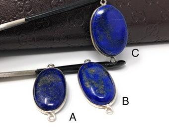 Lapis Lazuli, Gemstone Connector, Lapis Lazuli Connector, Bezel Connector, Jewelry Supplies, Jewelry Making, Jewelry Findings, DIY Jewelry