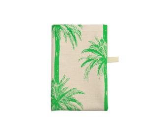 Tropical / Palm Trees / Bright Green Tea Towel / Printed Dish Cloth /Kitchen Towel/Gifts for all occasions/Cotton Tea Towel/ Kitchen Decor