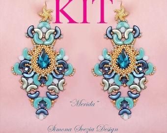 KIT for Merida earrings (tutorial NOT included). Read the description. Tutorial non incluso. Leggere la descrizione dell'inserzione.