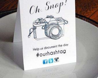DIY - Signage - Instagram - Hashtag - Social Media - Facebook - Snapchat - Twitter - Wedding Reception Signs - Digital File Only