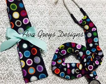 Stethoscope Cover-Elegant Dots// Nurse // Doctor// Gift for Nurse// Veterinarian Gift// EMT // RN//