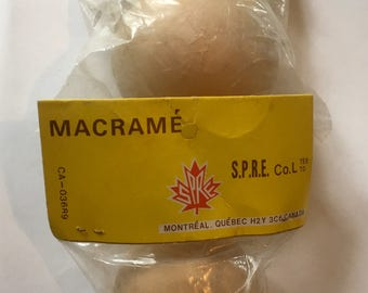 LARGE Wooden Macrama Beads -  Vintage 1970's