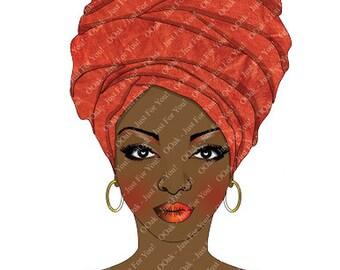 Pita - Ethnic Woman in Head Wrap (Ethnic/Black Girl)