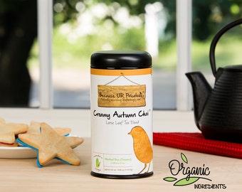 Chai tea, CREAMY AUTUMN CHAI, caffeine free loose leaf, organic rooibos tea, pumpkin pie dessert tea